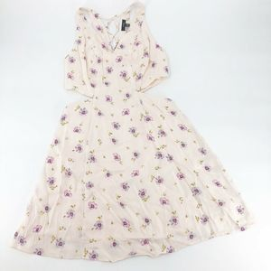 AFRM Lilac Floral Rayanna Minidress Med